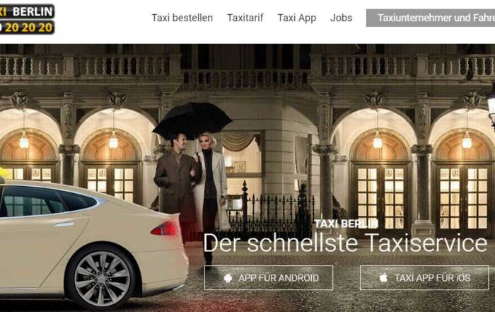 Taxi Berlin Website