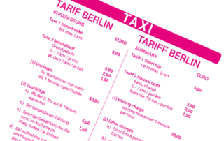 Taxitarif Berlin