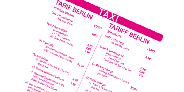 was kostet ein taxi in berlin pro km infos zum berliner taxitarif. Black Bedroom Furniture Sets. Home Design Ideas
