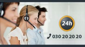 Telefonische Bestellung bei Taxi Berlin unter (030) 20 20 20
