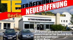 Große Eröffnung der Filiale von TE Taxiteile im Taxi Zentrum Berlin
