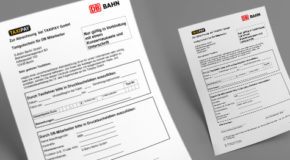 Taxicoupons der Deutschen Bahn/S-Bahn