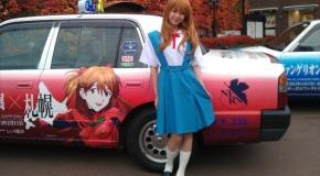 Japaner bekleben einige ihrer Taxis mit Mangas