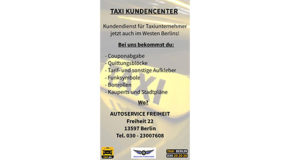 Taxi Berlin Kundencenter ab jetzt auch in Spandau