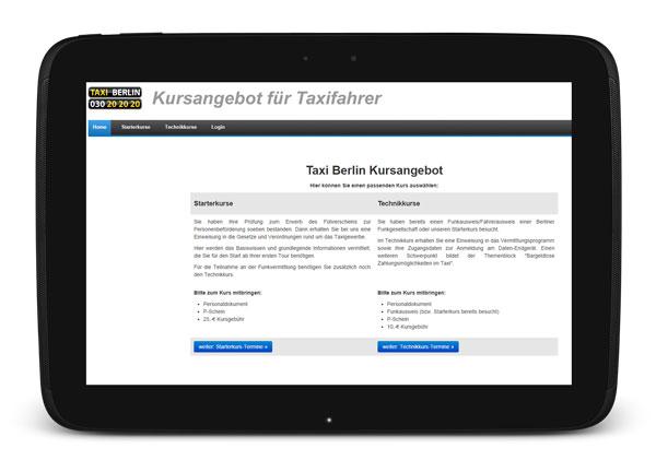 Taxikurse bei Taxi Berlin - jetzt online anmelden