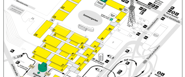 Info und Taxi – Anfahrtplan zur Fruit Logistica in Berlin 2015