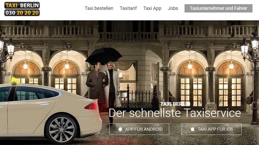 Taxi Berlin Website