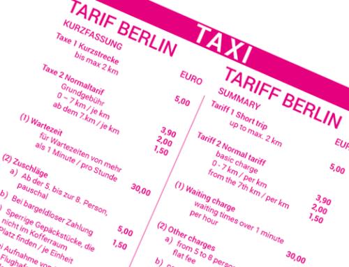 Was kostet ein Taxi in Berlin pro km? Informationen zum Berliner Taxitarif